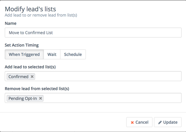 Modify lead lists based on email
