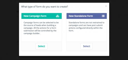 marketing automation form types