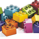 A pile of lego blocks of different colours