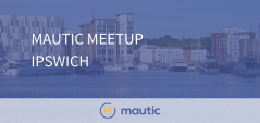Mautic Meetup Ipswich with Ipswich Waterfront in the background